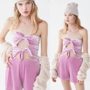 🆕NWT Urban Outfitters bow detail strapless romper